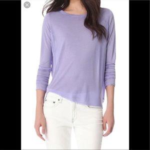Vince purple lilac silk top S